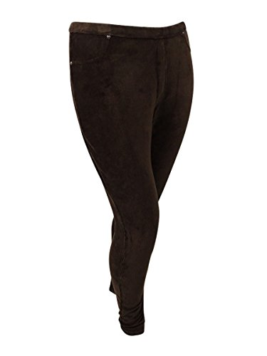 Style & Co. Womens Plus Corduroy Flat Front Leggings Brown 3X by Style & Co. (Image #1)