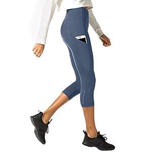 LAPASA Donna 3/4 Capri Leggings Sportivi Con Tasche Laterali Pantaloni Fitness Per Yoga Allenamento Palestra L33