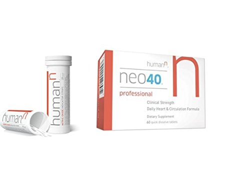 Neo40 Professional – Nitric Oxide Booster with Methylfolate – Natural Blood Pressure Supplement – May Help Support Healthy Blood Pressure and Circulation – 60 Tablets (Neo40 Pro with Test Strips)