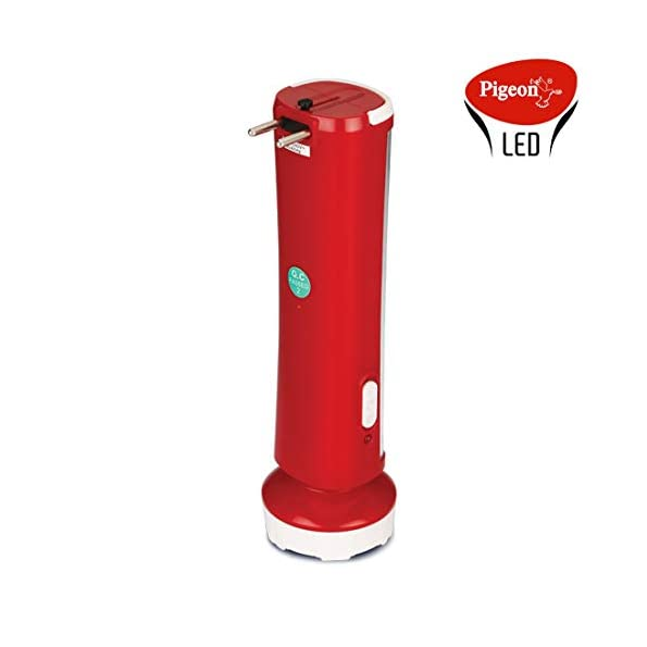 Pigeon-LED-Glow-Emergency-lamp-with-Torch-with-1600-mAh-Battery-and-5-Hours-Back-up-time-Red