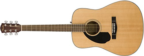 Fender CD-60S Left Handed Acoustic Guitar - Dreadnought Body - Natural