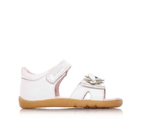 BOBUX - Weiße Sandale, aus atmungsaktiven Leder, extrem flexibel ermöglicht das Wachstum ohne Einschränkungen, Mädchen