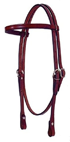 Fabtron Leather Browband Headstall Chestnut