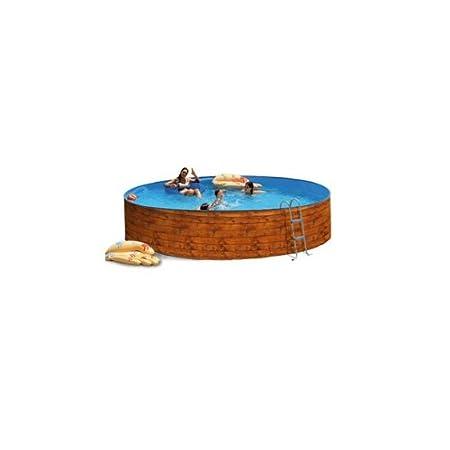 Piscina acero etnica promo imitacion madera 4,50x0,90m 8102: Amazon.es: Juguetes y juegos