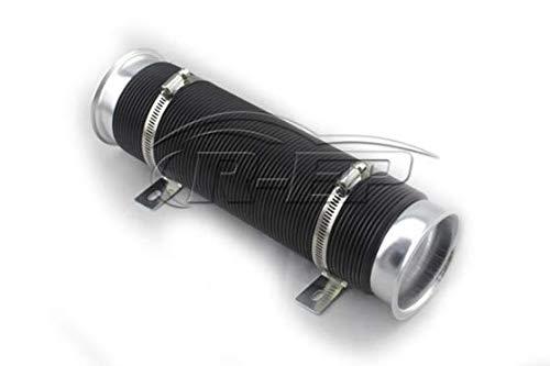 Aramox Air Intake Pipe,76mm 3inch Universal Car Cold Air Intake Inlet Pipe Flexible Duct Tube Hose Kit Black: