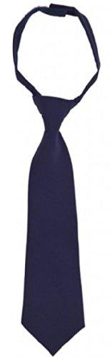 French Toast School Uniforms Boys Adjustable Solid Color Neck Tie, Navy, 8-12