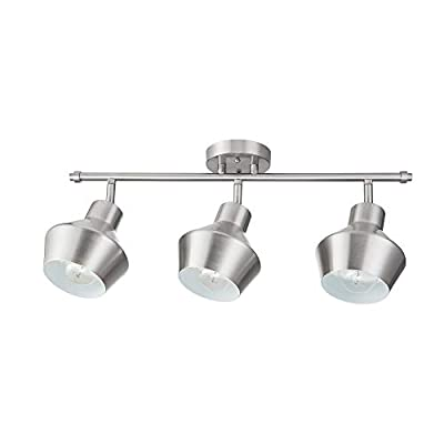 Globe Electric 59455 Asher 3-Light Track Lighting, Brushed Nickel