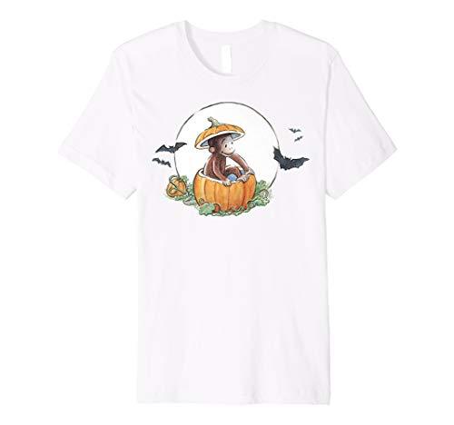 Curious George In A Pumpkin Halloween Portrait Premium T-Shirt -