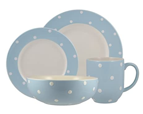 Amazon.com | Spode Baking Days Blue 4-Piece Place Setting ...