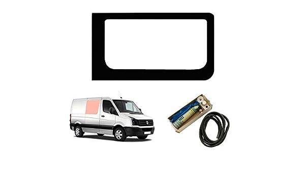 Mano derecha ventana de fijo transparente para Panel lateral contrario puerta corredera con – Kit de montaje: Amazon.es: Coche y moto