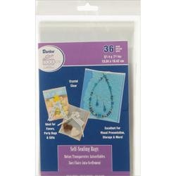 Darice Bulk Buy Self Sealing Bags 5.25 inch x 7.25 inch 36 Pack (6-Pack)