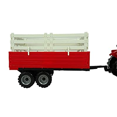 Toyland Red Friction Powered Farm Tractor with Trailer - Boys Farm Toys: Toys & Games