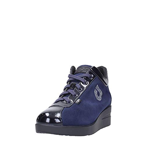 1 39 Agile Luxor Donna Zeppa N° Navy Top Rucoline Scarpe By Suede 226 7zqw7AS