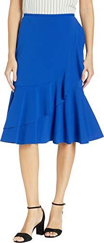 - Calvin Klein Women's Ruffle Scuba Crepe Skirt Regatta 6