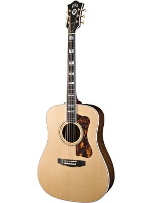 UPC 717669732189, Guild D-55 Rosewood Dreadnought Acoustic-Electric Guitar with D-TAR Pickup and Deluxe Case - Natural