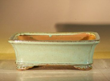 Bonsai Boy's Light Green Ceramic Bonsai Pot - Rectangle 8 x 6 375 x 3