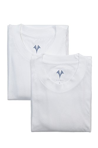 Texere Men's Crew Neck Undershirts (2-Pack, Natural White, Medium) Best Under Shirts for Him MB6301-NWH-M