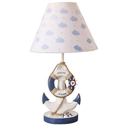Anchor Resin Children's Room Cartoon LED Table Lamp for Boys Girls Bedroom Kindergarten Gift,A