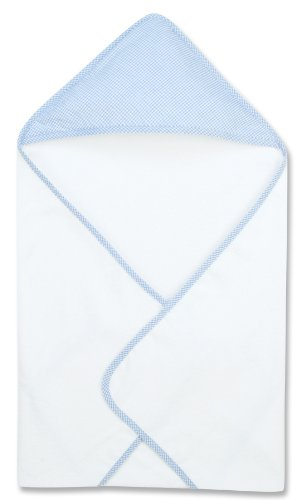 Trend Lab Blue Gingham Seersucker Deluxe Hooded Towel