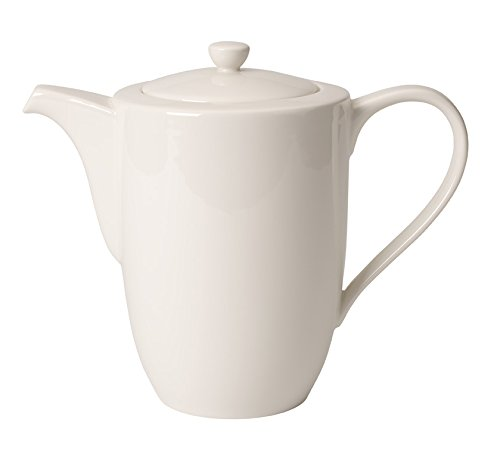 1.2 L Suitable for Up to 6 People Villeroy /& Boch 10-4153-0070 For Me Coffee Pot 6 People Pack of 1 Elegant Porcelain Coffee Pot with a Puristic White Design
