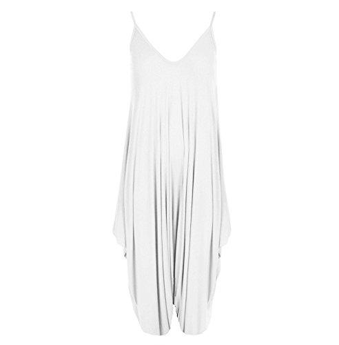 Funky Fashion Shop - Falda - sujetador bandeau - Sin mangas - para mujer blanco