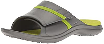 Crocs Unisex Adults Modi Sport Slide, Graphite/Volt Green, M4W6