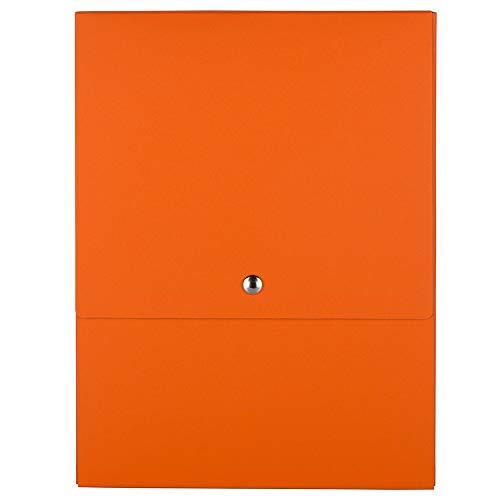 JAM PAPER Vertical Snap Closure Portfolio - 12 1/8 x 9 x 1/2 - Orange Kraft - Sold Individually