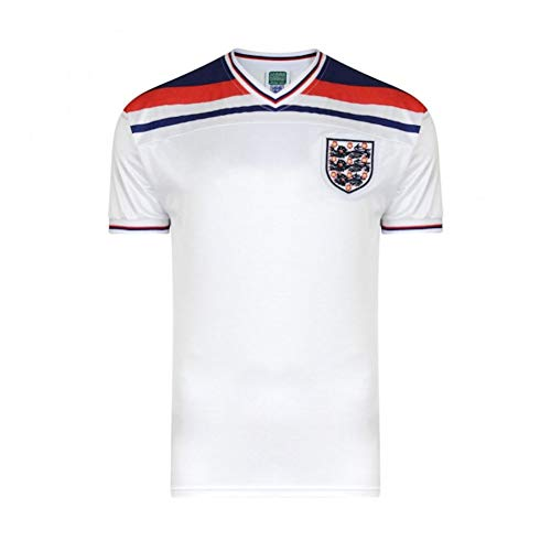 Score Draw Men's England 1982 World Cup Final Shirt - White, Medium