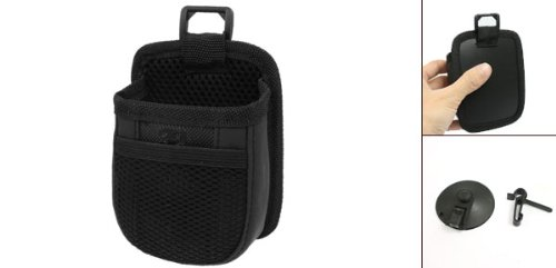 Uxcell 174 Car Vehicle Black Air Vent Cell Phone Pouch Holder