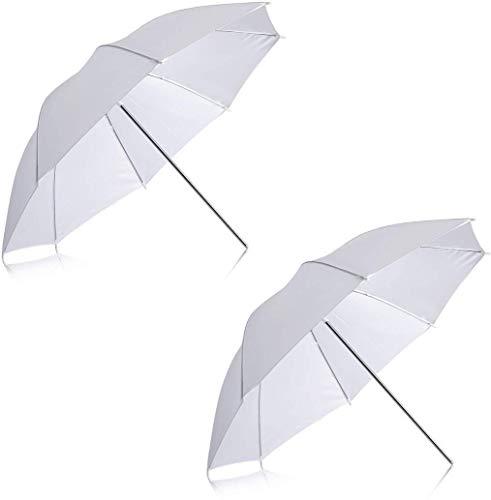 CAMROLITE Professional White Umbrella 100cms 36 inch/91cm for Photography Studio Light Flash, Camera Flash, Video Light 2 Pcs Combo