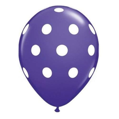 Baby Shower - 20 Pc 12 Quot Polka Dot Latex Balloon Happy Birthday Baby Shower Wedding Bridal Spot Purple White - Stickers Boy Decorations Boys Envelopes By Necklace Seals Advice Filler