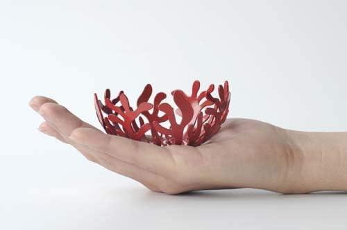 color rojo Portavelas de acero Alessi ESI21 R