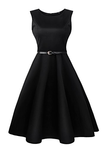 Amazon #LightningDeal 88% claimed: Angerella Vintage 50s Party Cocktail Dresses Sleeveless Retro Dress with Belt