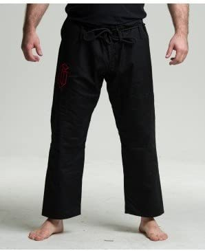 Max5 Brazilian Jiu Jitsu Gi Pants MMA Grappling Uniform Full Blank Pant Black