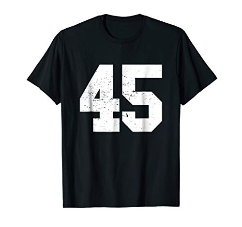 #45 Sports Fan Player T Shirt Number 45 Game Winner Lucky