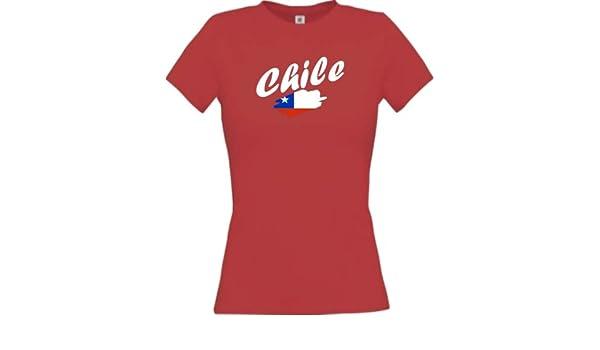 Shirtinstyle Camiseta de mujer WM Camiseta de país Chile muchos colores, Tamaños XS-XL - Rojo, XL: Amazon.es: Deportes y aire libre