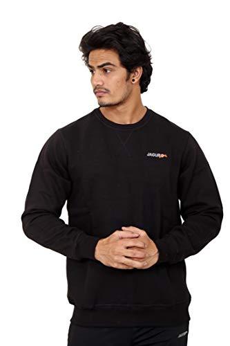 JAGURO Full Sleeve Solid Men Cotton Sweatshirt