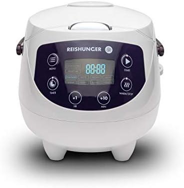 Reishunger Mini arrocera (0.6l/350W/220V) Hervidor de arroz con 8 programas, tecnología de 7 Fases, Temporizador y función de Mantenimiento de Temperatura: Amazon.es: Hogar