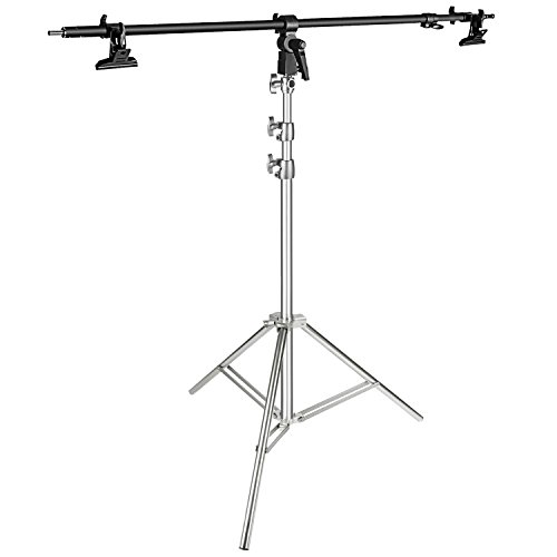 Neewer Photo Studio Stainless Steel Light Stand 36.2-86.6 inches/92-220 centimeters Foldable and Reflector Holder Arm 39.7 inches/101 centimeters Retractable Telescopic Crossbar with 2 Pieces Clamps by Neewer