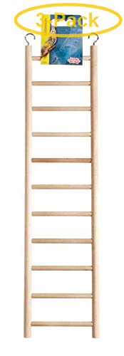 Living World Wood Ladders for Bird Cages 18'' High - 11 Step Ladder - Pack of 3 by Living World