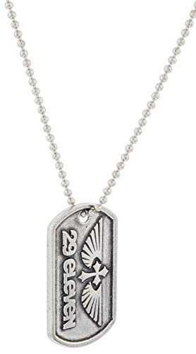 (Bob Siemon 29 Eleven Carded Pewter ID Tag Necklace on 30
