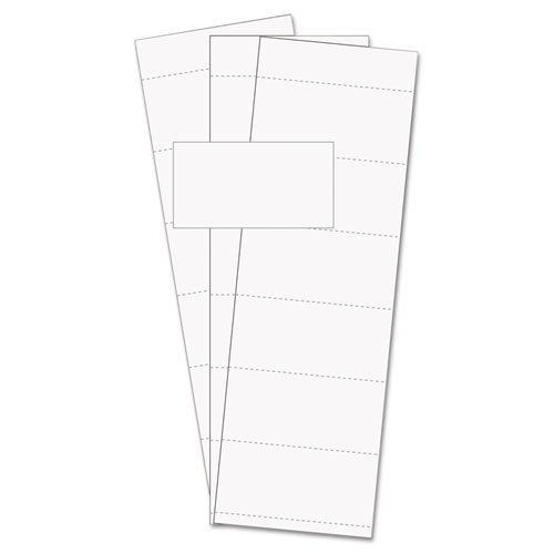 MasterVision Magnetic Accessory Data Card Insert, White, 500 per Pack (FM1513)