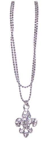 V G S Eternity Fashions Jewelry ~ Crystal Fleur De Lis Charm Anklet (Anklets 058c 86) Crystal Fleur De Lis Charm