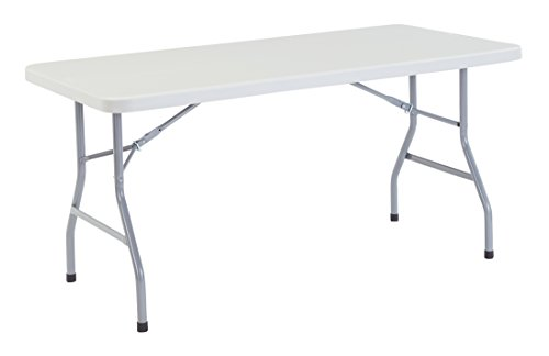 NPS 30'' x 60'' Heavy Duty Folding Table, Speckled Gray, 1,000 lb Capacity by National Public Seating