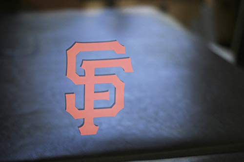 (San Francisco Giants 'SF' Set of (2) or Single Die-Cut Vinyl Auto Decal or Laptops, Yeti, Gear.)