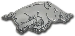University of Arkansas Razorbacks (Running Hog) Chrome Plated Premium Metal Car Truck Motorcycle NCAA College Emblem by AMG