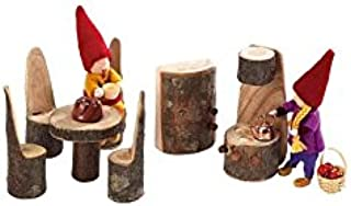 product image for Magic Cabin Rustic Tree Block Kitchen Furniture Set, 7 Pieces