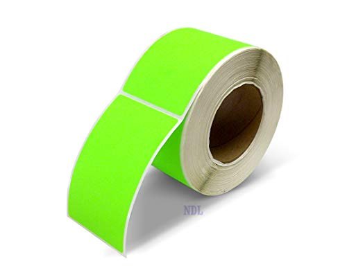Next Day Labels, 3 X 5 Rectangle Inventory Color Coding Labels, 500 Per Roll (Fluorescent Green) ()