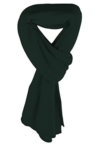 Ladies Ultrafine 100% Cashmere Scarf Wrap - Dark Green - made in Scotland by Love Cashmere RRP $400 by Love Cashmere