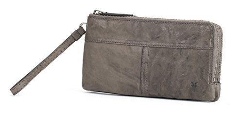VERONICA DOUBLE POUCH WALLET Wallet, CHARCOAL, One Size
